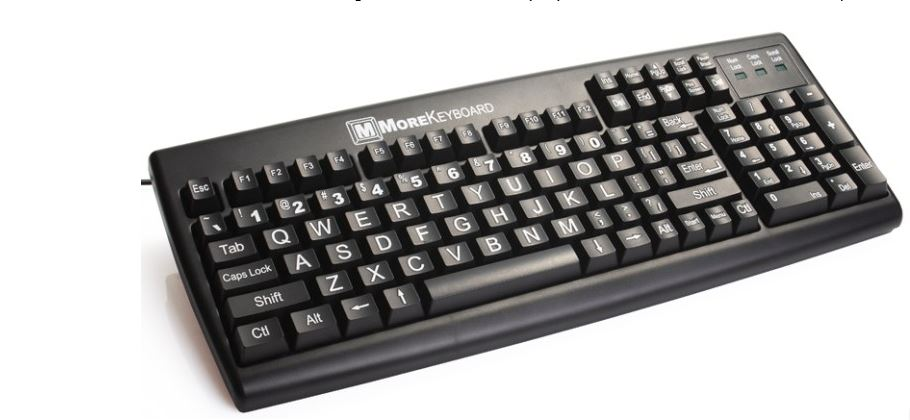 23e16a9d14c The MoreKeyboard is an innovative large key and large-print computer  keyboard. It is designed to benefit older persons, the physically and/or  vision ...